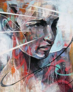 Stylised female portraits by English artist Danny O'Connor