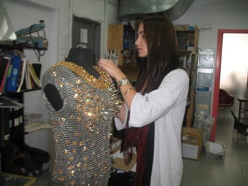Making dress for Rihanna