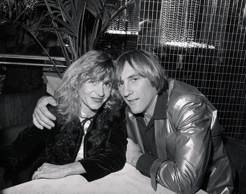 Gerard Depardieu and Elisabeth Guignot during party celebrating the 5th anniversary of Regine'09 Oct 1980, New York