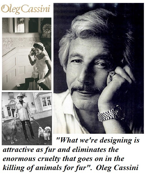 Fashion designer and humanitarian Oleg Cassini