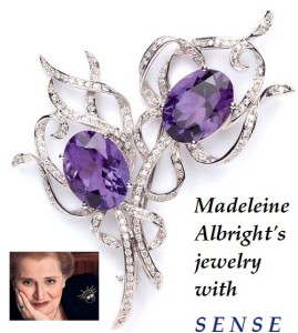 Madeleine Albright's jewelry with sense
