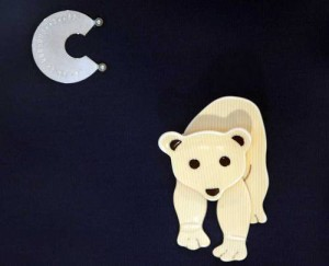 Albright wore this polar bear pin when she visited the Arctic in 2008 to discuss climate change.