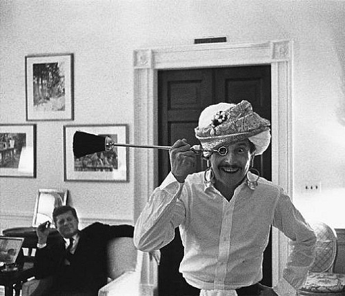 Oleg Cassini and John Kennedy