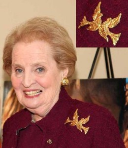 Madeleine Albright attends an event at the Kaye Playhouse at Hunter College, March 2009