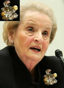 Madeline Albright testifying before the House Foreign Affairs Committee in January, 2007