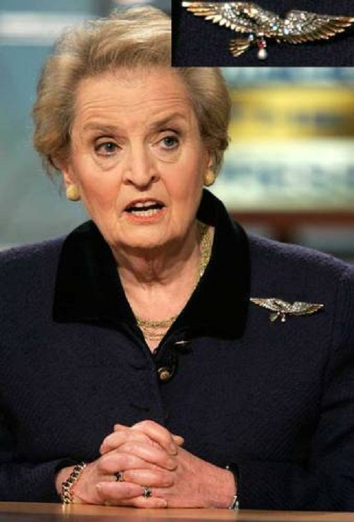 Madeleine Albright at a 2006 News Conference
