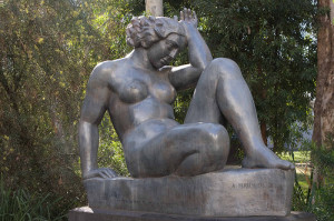 "Aristide Maillol saw in her the embodiment of his ideas about the woman, or the ""eternal feminine"""