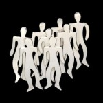 At the Group of Eight meetings, she was the only woman. She always wore this brooch in the form of a group of people without gender. The brooch was made in Mexico, silver, 1960.