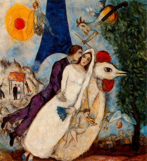 Three muses of Marc Chagall