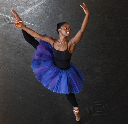 """I worked very hard and I was en pointe by the time I was seven years old,"" says DePrince. ""I just moved along fast because I was so determined to be like that person on the magazine and she was what drove me to become a better dancer, a better person - to be just like her was what I wanted to be."""