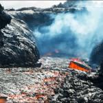 inside lava close up