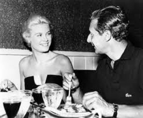 fashion designer Oleg Cassini and Grace Kelly