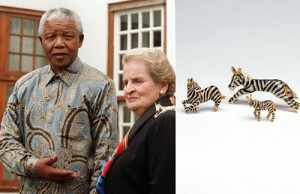 At a meeting with Nelson Mandela