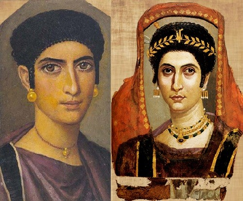 Faiyum portraits first realistic painting