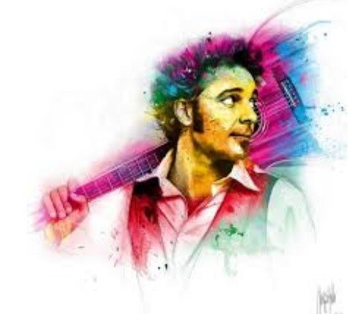 Greg Laffargue – author, composer, interpreter, painting by French artist Patrice Murciano