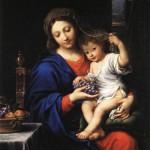 La vierge aux raisins, 1640.