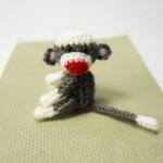 Miniature Sock Monkey 1 Inch