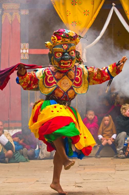 Monastic festival Tsechu in Bhutan