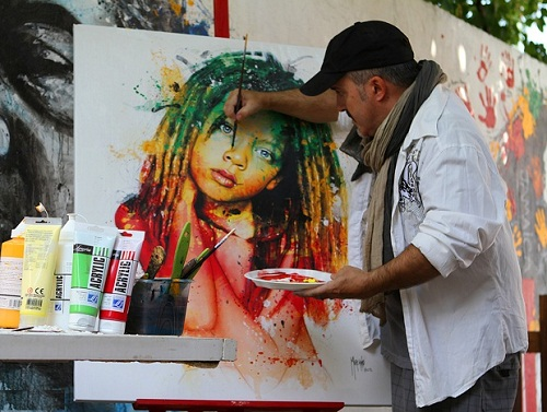 French artist Patrice Murciano