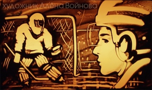 Sketch in the memory of the ice hockey club Lokomotiv