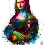The da Vinci, colorful painting by French artist Patrice Murciano