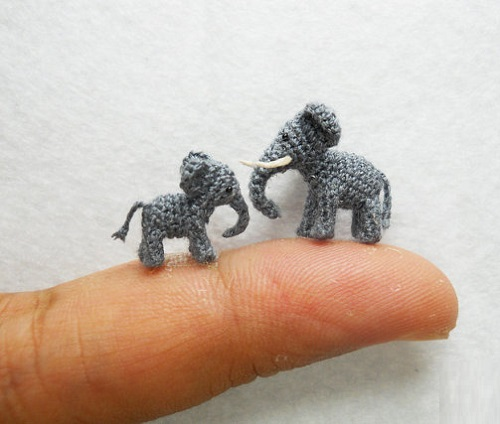 Su Ami knitted miniature toys