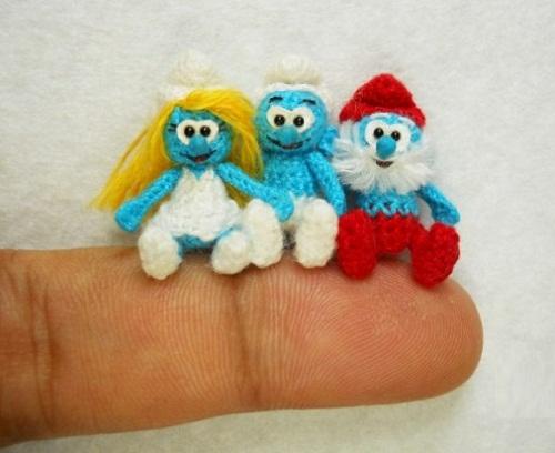 cartoon characters in miniature