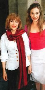 Elisabeth Guignot and daughter