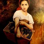 girl with grapes ramesh k nambiar