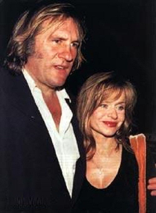 Gerard Depardieu and Elisabeth Guignot