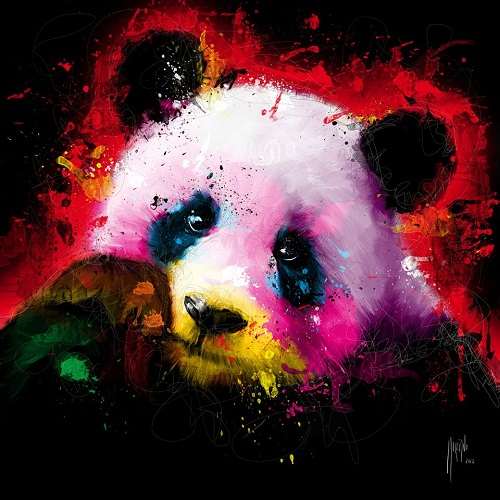 Panda, painting by French artist Patrice Murciano