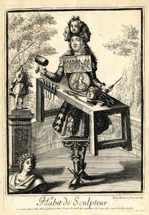 Nicolas de Larmessin II. Les costumes grotesques et les metiers.