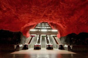 The Solna centrum station