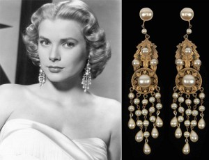 Grace Kelly in earrings from Joseff of Hollywood in the movie High Society