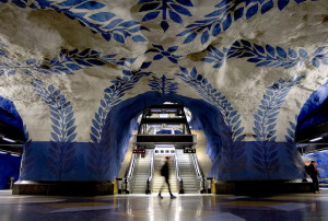 Stockholms tunnelbana is often called the longest art gallery in the world