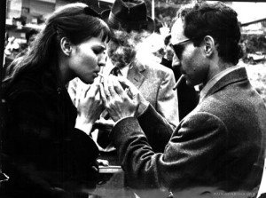 Anna Karina and Godard