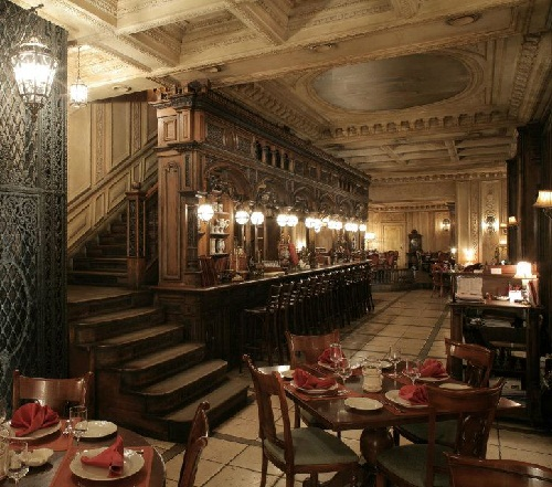 Russian aristocratic restaurant Cafe Pushkin