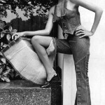 """The model in jeans, spring collection """"Miss Levi"""", London, September 14, 1971."""