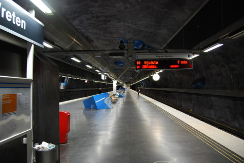 Noiseless Stockholm metro