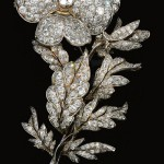 A diamond pansy brooch from the late 19th century.