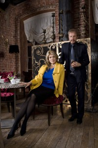 Andrei Dellos (restaurateur) and his wife Eugenia Metropolskaya (antiques). married for 14 years.