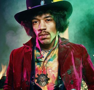 Jimi Hendrix, Singer, songwriter, record producer. Died in 1970, at age 27, asphyxiated by his own vomit