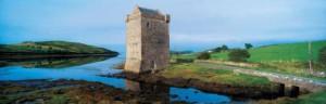 Rockfleet Castle. Gulf Cloud. County Mayo. Ireland. scanned image