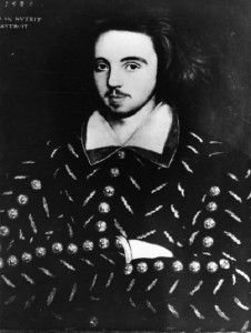 Christopher Marlowe. Poet, playwright. Died in 1593, at age 29, stabbed during argument over a bill