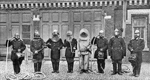 Fire-fighters, the Moscow fire brigade, 1913