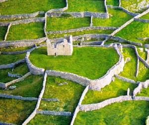 Inshimor. Aran Islands. County Clare. View of the ruins of the castle