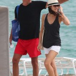 Olga and her boyfriend, Magic City co-star Danny Huston, 50