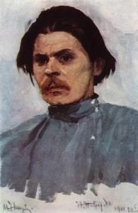 Portrait of Maxim Gorky