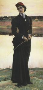 Portrait of Olga Nesterova (Amazon). 1906