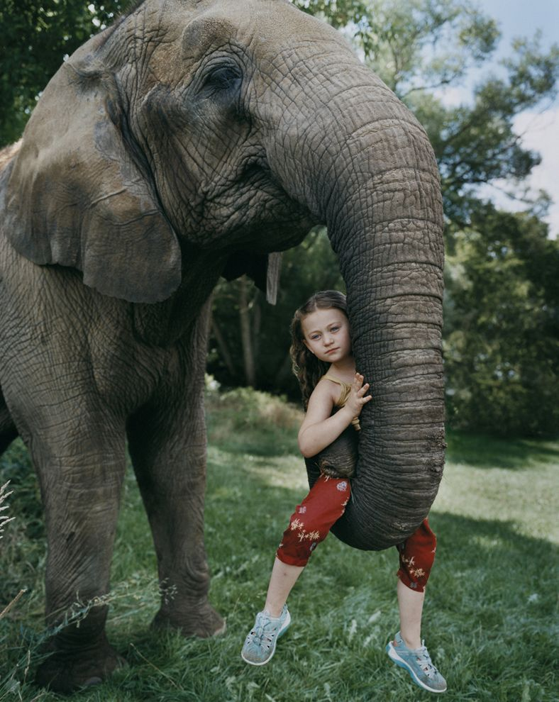 """Amelia was not taught to be afraid of animals, and her brothers and sisters - they are animals,"" - says her mother - photographer."
